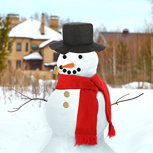 [BaiMoon DIY Christmas Snowman Decorating Kit Winter Outdoor Play Holiday Fun Toys Gift] (Making Snowman Costume)