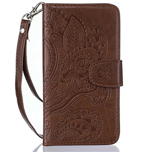 Hovisi Flip Leather Case Cover Leather Wallet Case for iPhone 5/5S/SE (Color 4)
