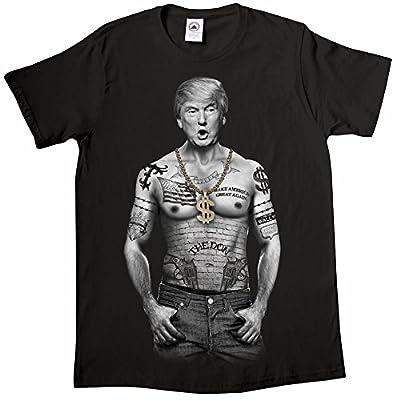 Unisex-Adult Trump Nation - Gangster Donald Trump Black T-Shirt