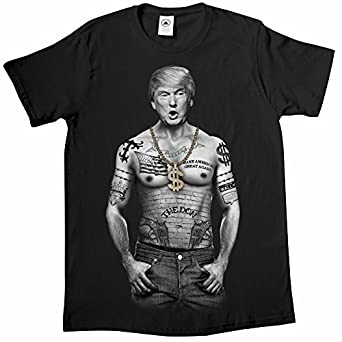 unisex adult trump nation gangster donald trump black t
