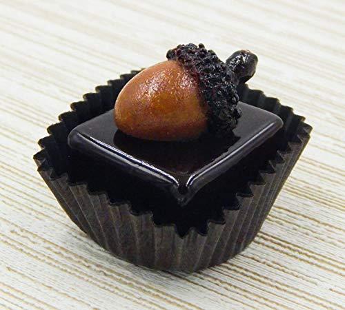 Glass Chocolate with Acorn Autumn Halloween