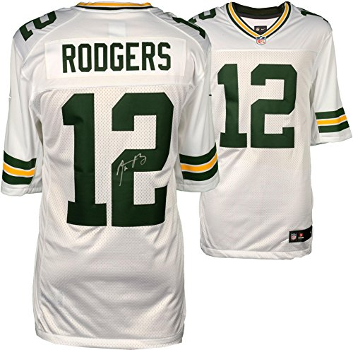 Aaron Rodgers Green Bay Packers Autographed Nike White Limited Jersey - Fanatics Authentic Certified