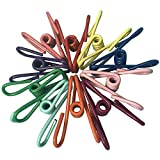 Clothesline Clips, Volla Steel Wire Clips Holders PVC Covered Multipurpose for Home Kitchen Office School - 36pcs (Assorted Color)