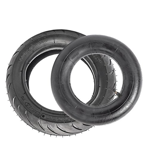 Bike Pocket Tire (ZXTDR 110/50-6.5 Tire and Inner Tube Kit for 38cc 47cc 49cc Mini Pocket bike Dirt Pit Bikes)