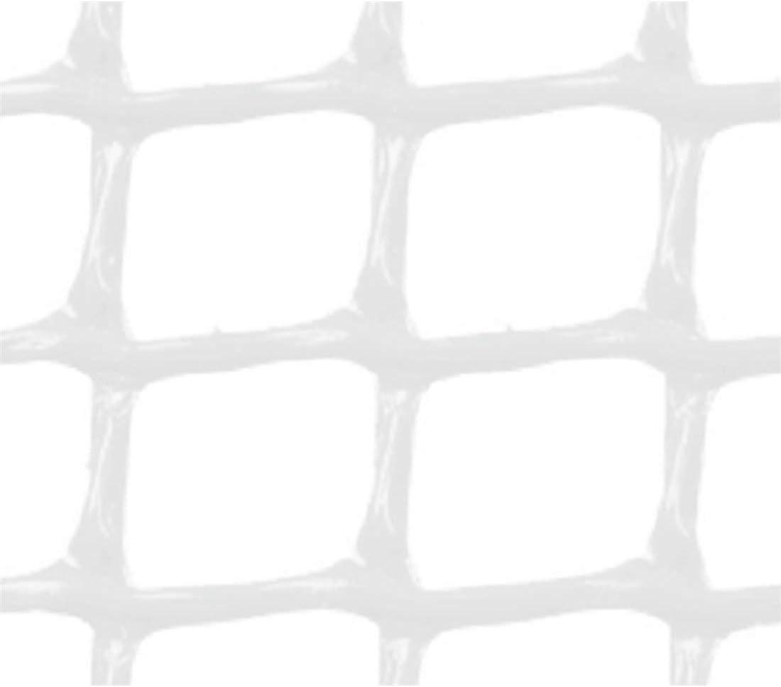 Faura 1x5m - Malla PLASTICA Cuadrada 2x2 cm Blanca