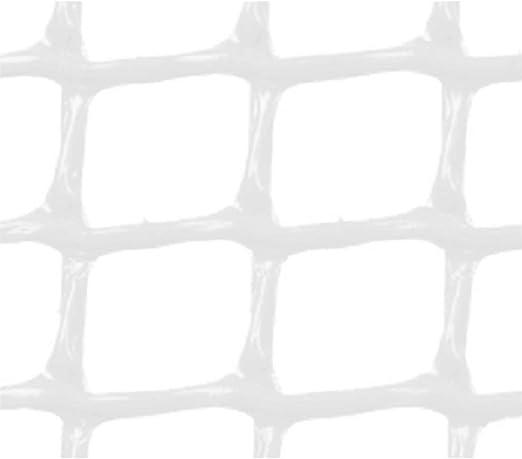 Faura 1x5m - Malla PLASTICA Cuadrada 2x2 cm Blanca: Amazon.es: Jardín