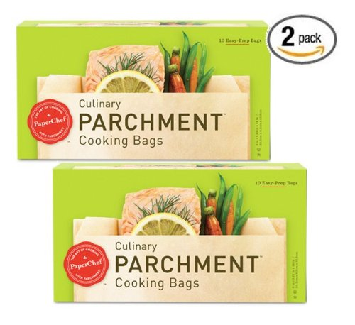(2 Pack) Parchment Paper Nonstick Cooking Bags, 10-ct/Box (Pergamino Paper)