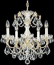 Schonbek 1704-40 Swarovski Lighting Century Chandelier, Silver