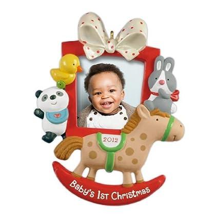 Amazon.com: Hallmark 2012 Keepsake Ornaments QXG4604 Baby\'s First ...