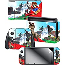 "Super Mario Odyssey: ""Cascade Kingdom"" Skin and Screen Protector Set - Officially Licensed by Nintendo"