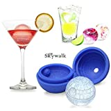 TOT 3D Silicone Death Star Ice Cube Round DIY Mould Pudding Jelly Mold Ice Trays