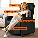 YAHEETECH Home Theater Seating Leather Recliner