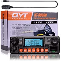 NKTECH QYT KT-8900R Tri-Band Dual Display/Standby/Track VHF UHF 136-174/240-260/400-480MHz 25W Car Trunk Vehicle Ham Mobile Transceiver Two Way Radio With USB Programming Cable