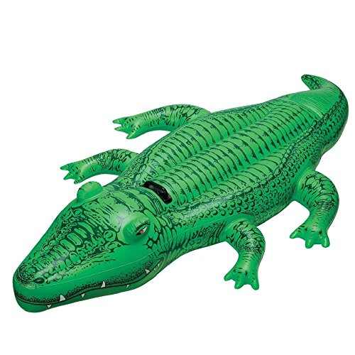 Intex Childrens Large Inflatable Ride On Lil Gator 1.68m Swimming Pool Fun ()