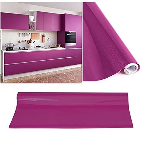 KINLO® Tapeten küche Lila 61x500cm aus hochwertigem PVC klebefolie ...