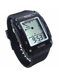 VISIONU Nergo Reloj Parlante en Español para Ciegos, Niños, y Los Ancianos, Deportes Electrónicos Hablar Relojes Gatget Regalo (MX-829TS-BLK)