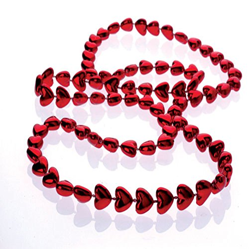 Metallic Heart Bead Necklaces