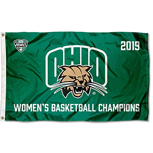 - College Flags and Banners Co. Ohio Bobcats 2019 Womens MAC Basketball Champions Flag