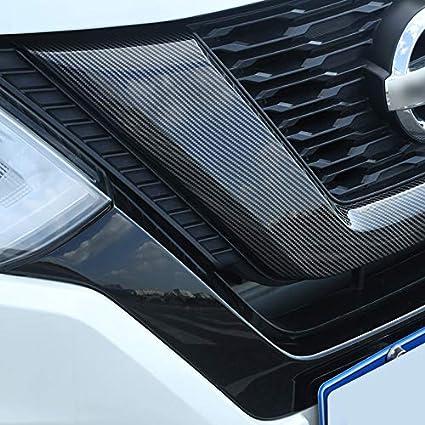 HIGH FLYING Vordere K/ühlergrill Zierleiste 1 St/ück ABS Kunststoff f/ür X-Trail T32 Modellpflege 2018 2019 Kohlefaserfarbe