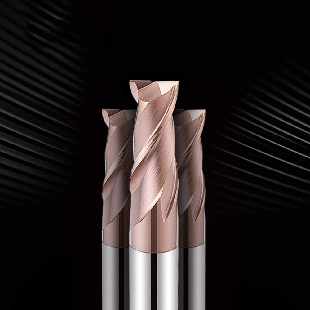 1pcs Carbide Milling Cutter 2 Flute HRC55 Solid Carbide End Mill, Durable Steel Milling Cutter CNC Mill Machine Tool for Metal,D14,35,D14,100L,2F D18-40-d18-100l-2f