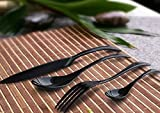 Besplore Black Stainless Steel Flatware Set,Luxury,Spoon Fork Knife