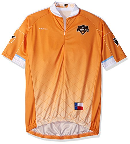 VOmax MLS Houston Dynamo Men's Primary Short Sleeve Cycling Jersey, Medium, (Houston Cycling Jersey)