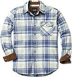 Best Man Buttons - HOF110CBL Medium Men's Flannel Long Sleeved Button-Up Plaid Review