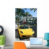 Yellow Car Rodeo Drive Wall Mu