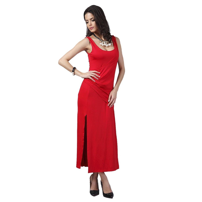Rote kleider mit schlitz