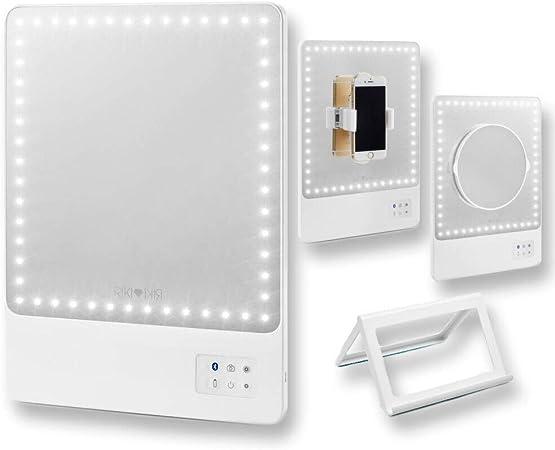 Glamcor Kosmetikspiegel Riki Skinny LED Beleuchtet//Aufladbar mit Vergr/ö/ßerung und 5 Helligkeitsstufen Makeup Schminkspiegel Rose Gold