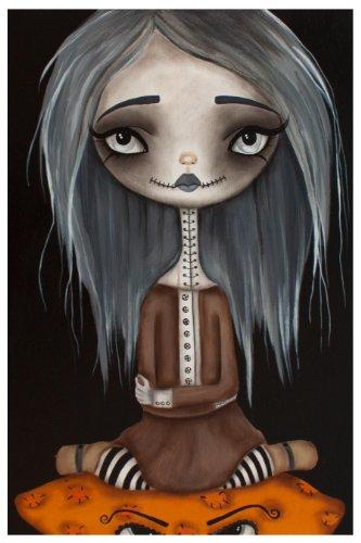 Black Market Art Wicked Beauty by Dottie Gleason Halloween Zombie Gothic Girl Fine Art Print