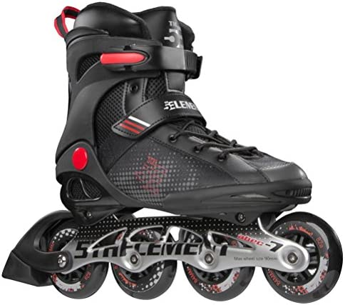 5th Element Stealth Mens Performance Fitness Inline Skates, Black and Red