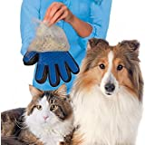 True Touch 2-In-1 Pet Glove Deshedding Glove Grooming Tool, Pet Hair Remover Mitt - For Cat & Dog- Gentle Deshedding Brush
