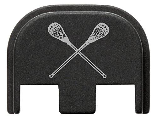 for Glock Gen 5 Rear Slide Cover Plate 9mm 17 19 19x 26 34 Black NDZ Lacrosse Sticks Crossed by NDZ Performance