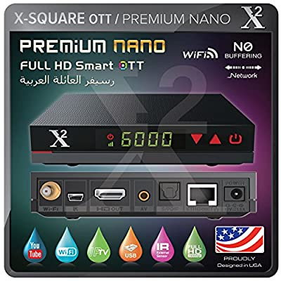 X2 Premium Nano ARABIC IPTV HD (OTT | Streaming Media Player) WiFi,Lan - New Edition