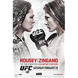 UFC 184 Ronda Rousey vs Cat Zingano Sports Poster 12x18