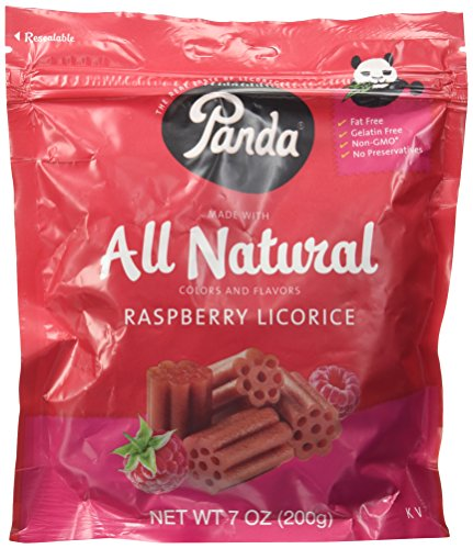 Panda Raspberry Licorice 7oz licorice pieces ()