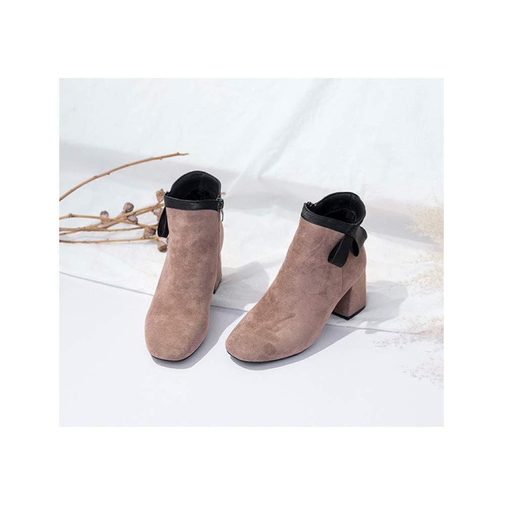 Qingchunhuangtang Hochhackige Stiefeletten für für für Frauen im Herbst und Winter 23467a