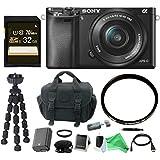 Sony Alpha a6000 Mirrorless Camera w/ 16-50mm Lens & DigitalAndMore Accessory Bundle - Black