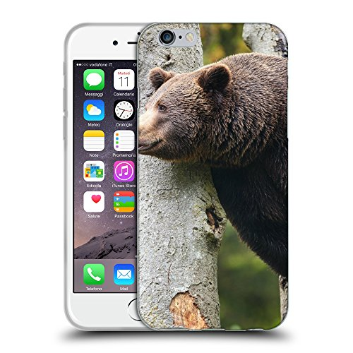 Just Phone Cases Coque de Protection TPU Silicone Case pour // V00004087 L'ours brun est assis sur un arbre // Apple iPhone 6 4.7""