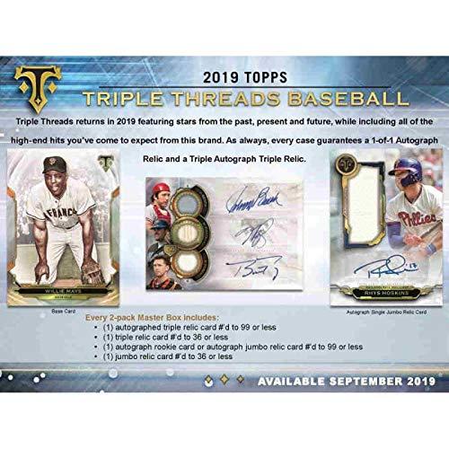 (2019 Topps Triple Threads Baseball Hobby Box (2 Packs/7 Cards))