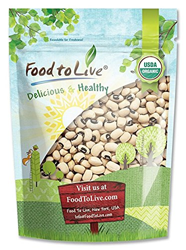 Organic Black-Eyed Peas by Food to Live (Raw Dried Cow Peas, Non-GMO, Kosher, Bulk Beans, Product of the USA) — 3 Pounds