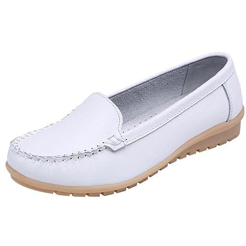 Zapatos de Náuticos para Mujer Otoño 2018 PAOLIAN Zapatillas de Vestir Planos Talla Grande Moda Calzado de Dama Cuero Fiesta Talla Grande Cómodos Calzado de ...