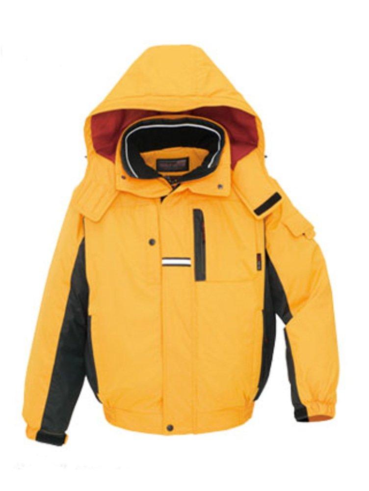 (アイトス) AITOZ 防寒 ブルゾン 光電子 作業服 AZ-6061 B00QGE13E6 L|イエロー/ブラック イエロー/ブラック L