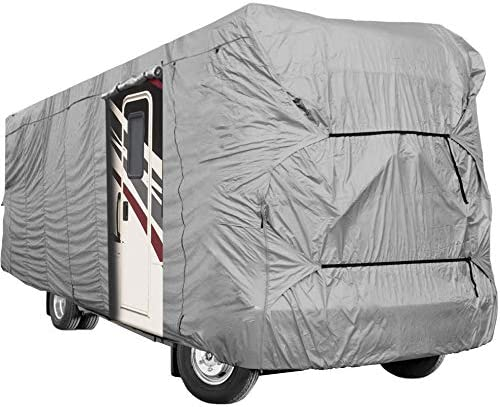 Waterproof Superior RV Motorhome Fifth Wheel Cover Covers Class A B C Fits Length 20-25 New Travel Trailer Camper Zippered Panels Allow Access To The Door Engine And Both Side Storage Areas