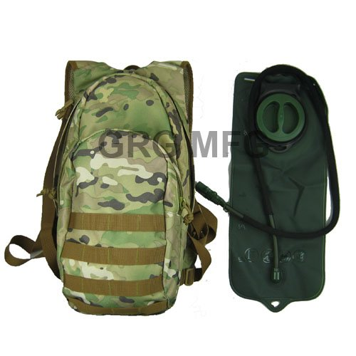 Desert Camo Tan Hydration Pack Backpack 2.5 Liter (84oz) Bladder, Outdoor Stuffs