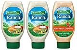 Hidden Valley Party Pack - 2 Easy Squeeze Original Ranch Salad Dressing & Topping & 1 Easy Squeeze Southwest Chipotle Ranch Salad Dressing & Topping (3 Pack, 60oz Total) - Gluten-Free & Keto-Friendly