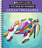 Books : Brain Games - Sticker by Number: Ocean Treasures