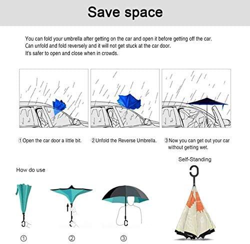 つぶやき 逆さ傘 逆折り式傘 車用傘 耐風 撥水 遮光遮熱 大きい 手離れC型手元 梅雨 紫外線対策 晴雨兼用 ビジネス用 車用 UVカット
