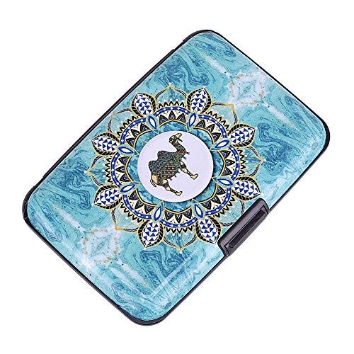 (Elfish Mini RFID Aluminum Wallet Credit Cards Holder Metal ID Case for Men Women (Color35) )